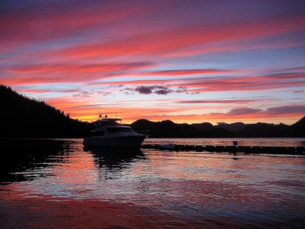 Sunset from Sullivan Bay